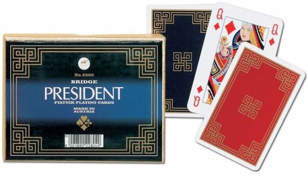 Karty klasyczne PRESIDENT Piatnik 2 talie