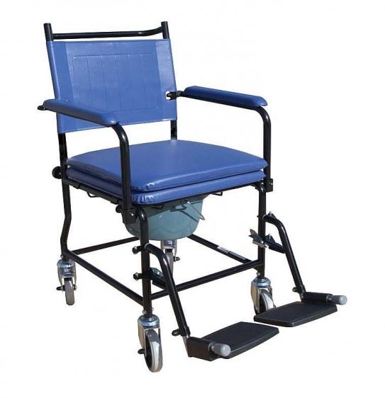 Wózek sanitarny z siedziskiem tapicerowanym