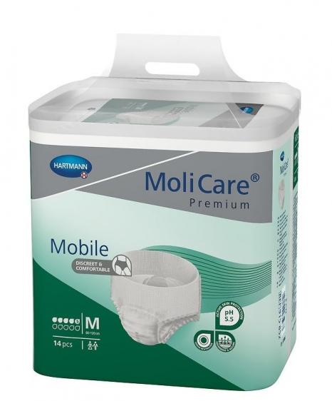 Pieluchomajtki MoliCare Premium Mobile średni stopień NTM