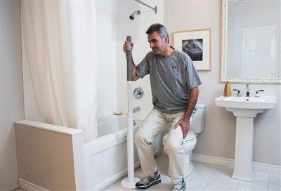 Uchwyt pionowy łazienkowy L1600