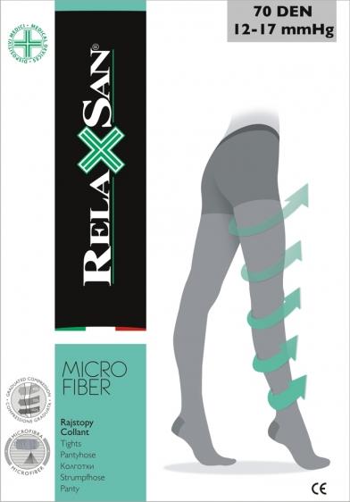 Rajstopy przeciwżylakowe RelaxSan 70 DEN z mikrofibry