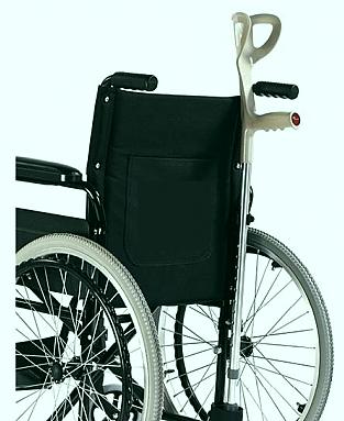 uchwyt na kule i laske do wózka inwalidzkiego