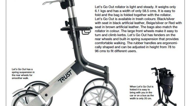 Chodzik rehabilitacyjny Let's Go Out TrustCare